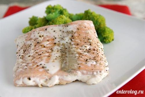 рыба приготовленная на пару