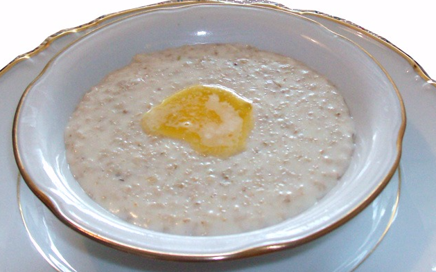 Овсяный суп с молоком