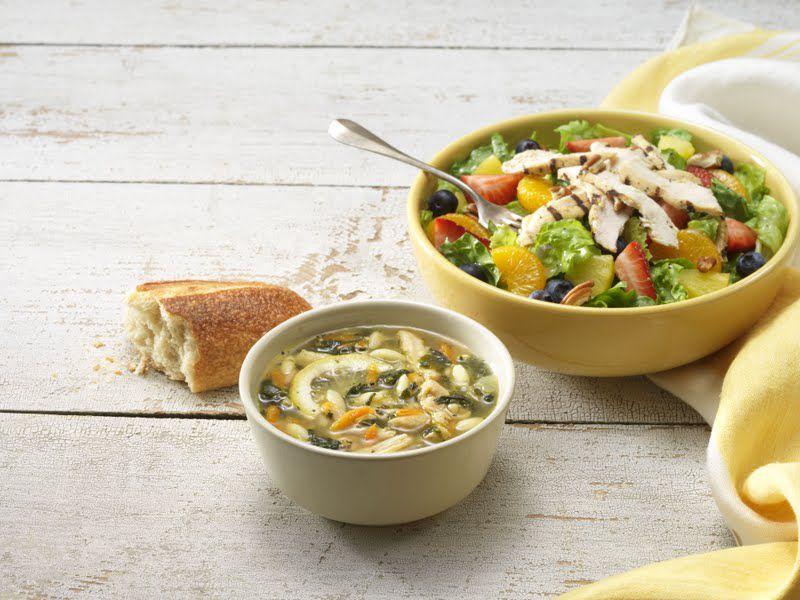 Овощной суп и салат