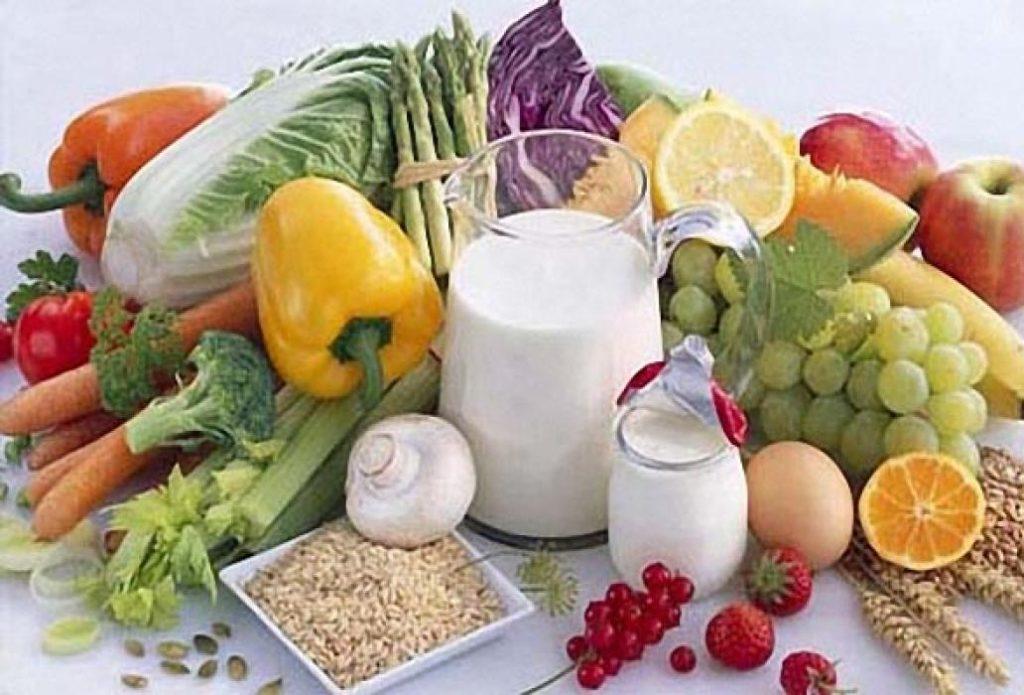 Овощи, фрукты, молочные продукты