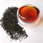 Чёрный чай сухой и заваренный