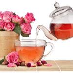 Чай из лепестков чайной розы